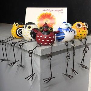 GANZ bird shelf sitters set